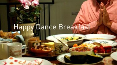 Happy dance breakfast