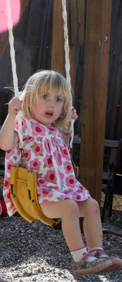 Daisy swinging 1