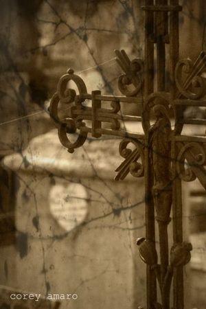 Cemetery iron cross