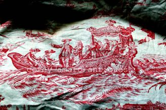 Red French toile