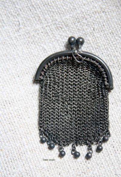 Silver-chain-coin-purse