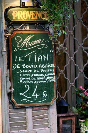 Provence-Menu