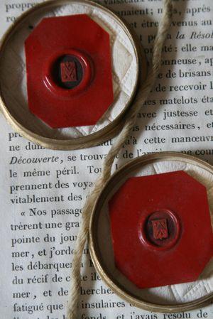 Red wax seals