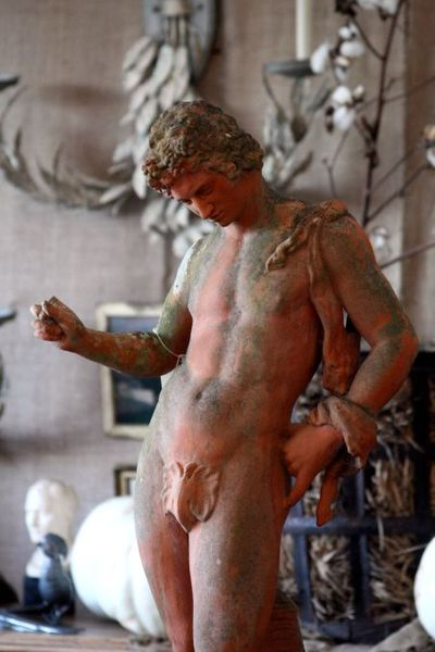 A nude statue antique that I wanted to carry home on the airplane with me, ...
