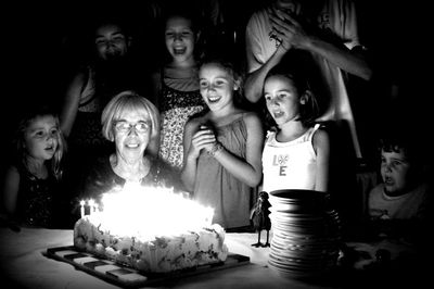 Seventy five candles