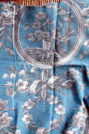 French toile basket design