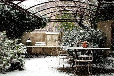 Courtyard, snow