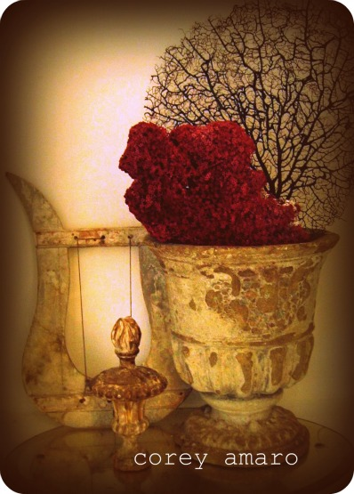 Urn with coral