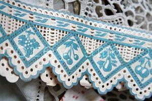 Blue paper ribbon