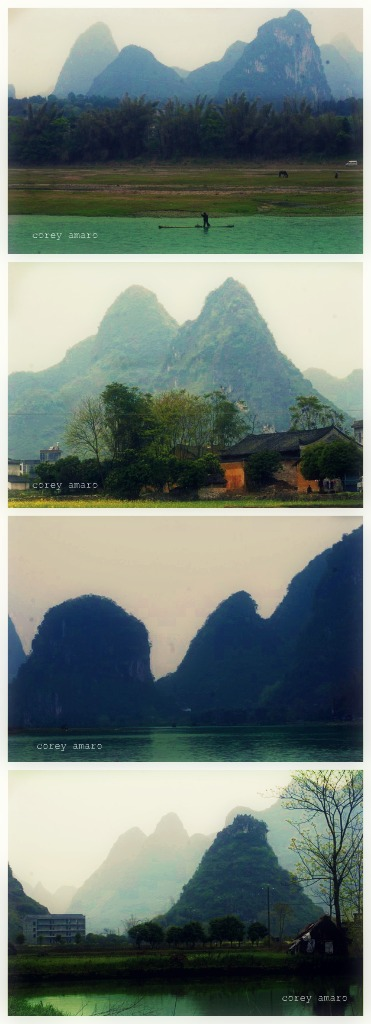 Li river china dragon's teeth mountains