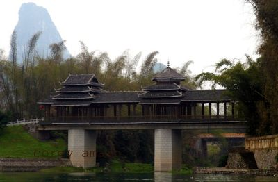 Bridge over li river china