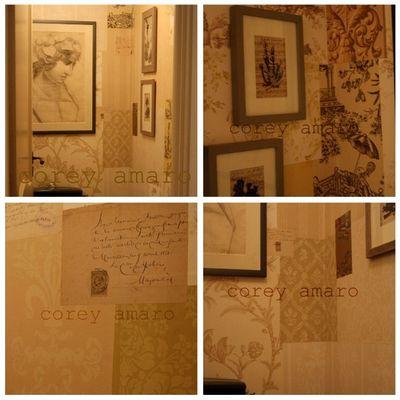 Wallpapering bathroom