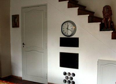 Kitchen stairwell before