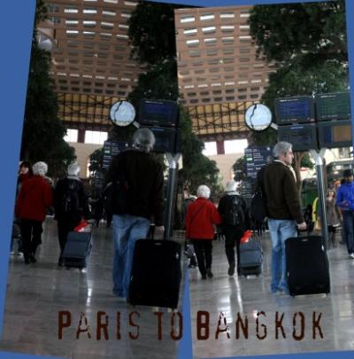 Paris to bangkok one suitcase