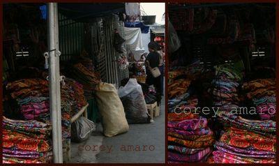 Tribal textiles Hmong market thailand