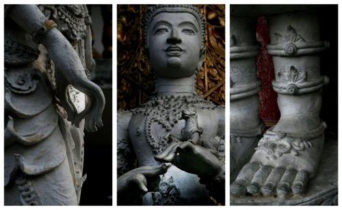 Temple statues budda chiang mai