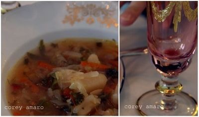 Borscht soup of Ukrainia