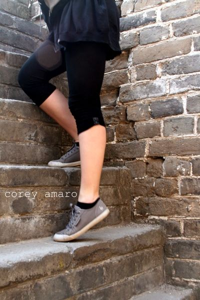 Chlesea on the great wall of china stairs