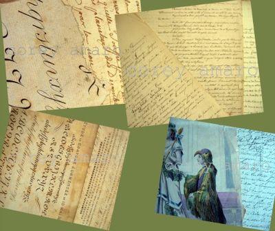 Hand written antique letters