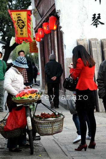 Red china street