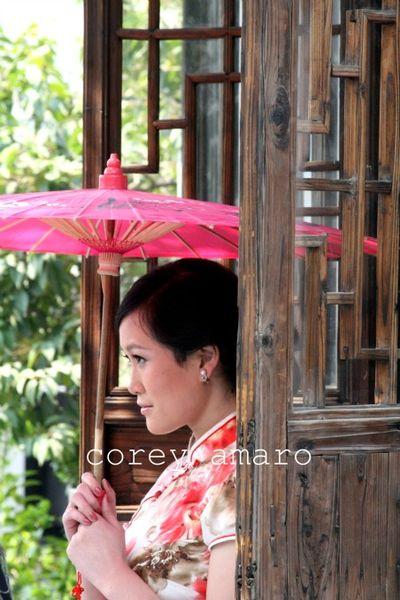 China girl with umbrella