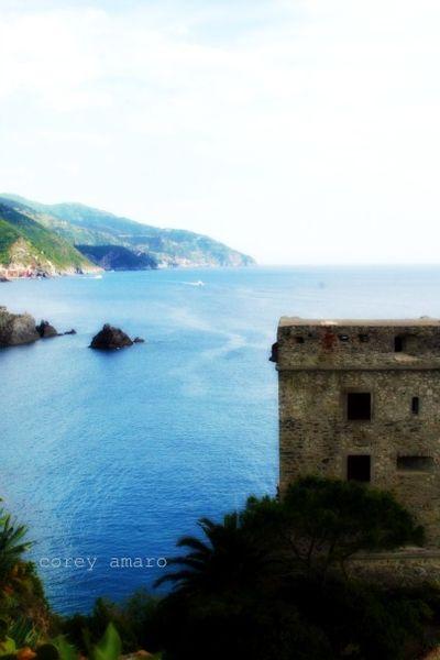 Italian coastline, tower