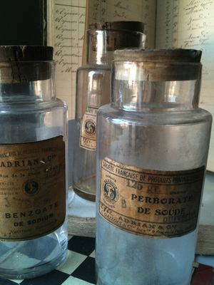 french old pharmacy  jars