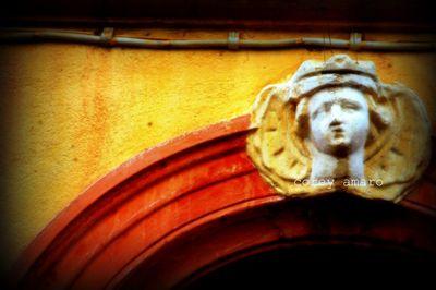 Angel above doorway