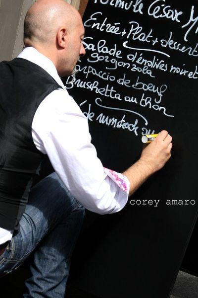 French chalkboard menu