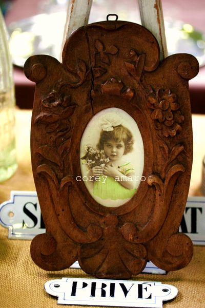 Poilus hand carved frame