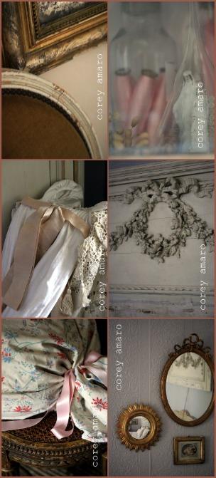 Pink and grey bedroom details