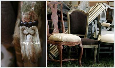 Old chairs sitting around