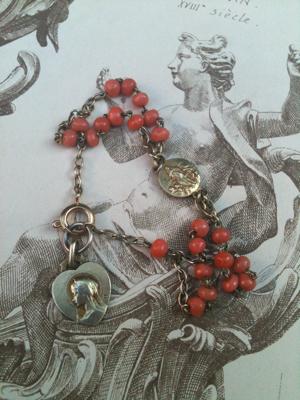 Coral Communion Bracelt