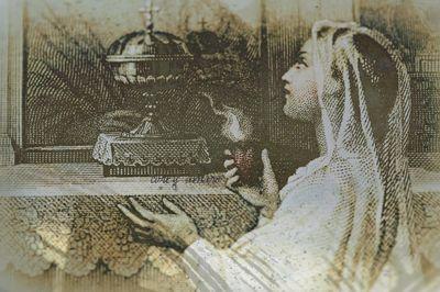 Sacred heart engraving