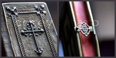 Prayer book with cross