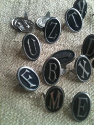 Monogram Hat Pins