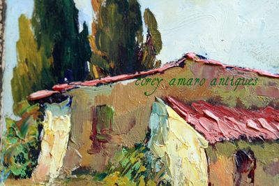 Detail provencal painting