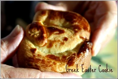 Greek easter cookie