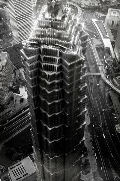 Shanghai tower view from the top