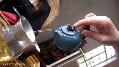 Making tea in china
