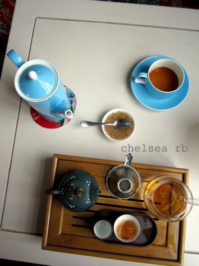 View of tea