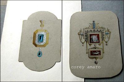 Pendants French antique jewelry designs