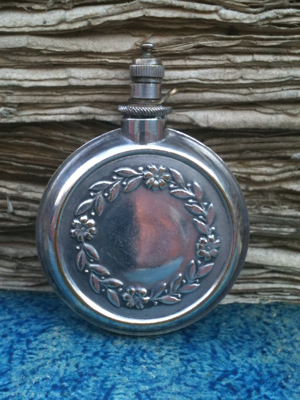 Silver Vial with Wreath