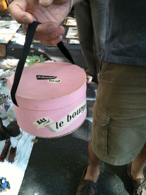 French Brocante: Pink Hat Box