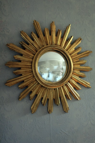 Sunburst mirror gilded