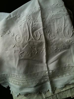 "Monogram French Bed Linen ""M"""