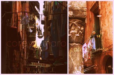 Alleyways in Naples Italy