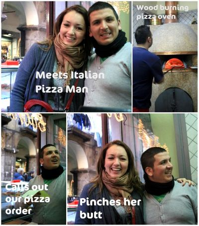 Pizza man in Italy