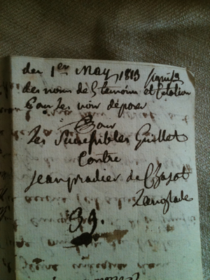French Antique Letters 1833