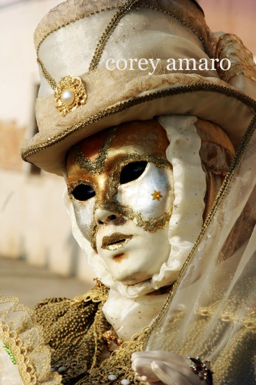 Venice carnival golden